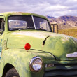 Stock Photo: Green Truck on Route 66 USA