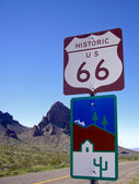 Historic Route 66 Sign — Stock Photo
