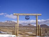 Desert Ranch in snow — Stock Photo