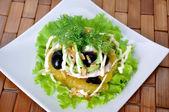Appetizer of avocado, orange — Stock Photo