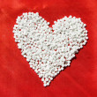 Heart from pills — Stock Photo