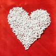 Royalty-Free Stock Photo: Heart from pills