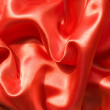 Red silk fabric — Stock Photo