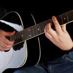 Man playing on guitar — Stock Photo #2703028