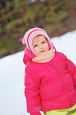 Little girl in winter parka — Stock Photo