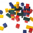 Wooden toy blocks — Stock Photo