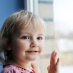 Girl by window — Stock Photo #2887897