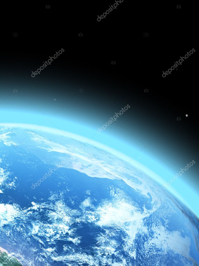  blue  planet earth  in space.  Stock Photo #3042176