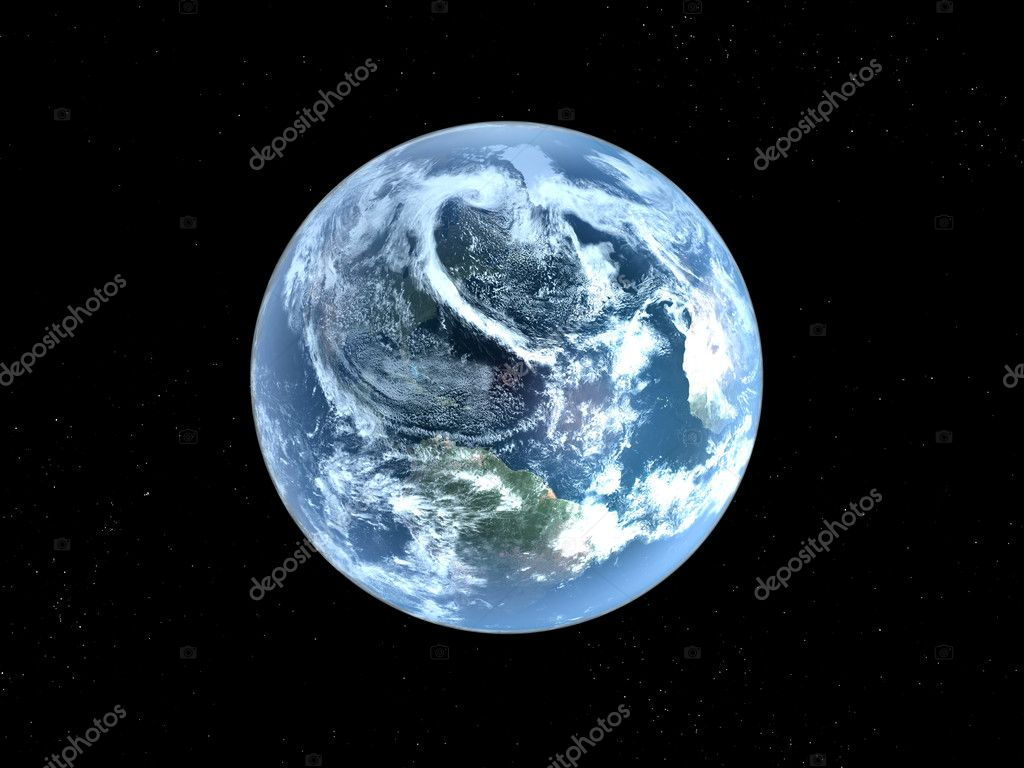 blue  planet earth  in space. — Stock Photo #3048212