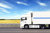 Truck with freight — Stock Photo