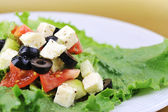 Salat with cheese — Stock Photo