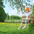 Little girl in park — Stock Photo #3184867