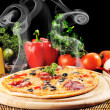 Tasty pizza on  plate — Lizenzfreies Foto