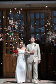Newly wed couple — Stock Photo