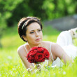 Stock Photo: Bride in white dress