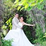 Groom and bride — Stock Photo