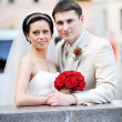Groom and bride — Stock Photo #3493223