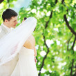 Groom and bride — Stock Photo #3522046