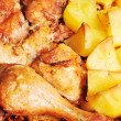 Chicken with  potato — Photo