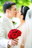 Groom and bride — Foto Stock