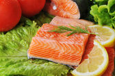 Pieces of salmon — Stock Photo