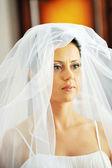 Portrait of beautiful bride — Stock Photo