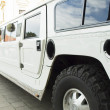 Wedding limousine - Stock Photo