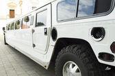 Wedding limousine — Stock Photo