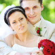 Groom and bride — Stockfoto #3667294