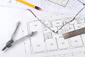 Drawings-blueprints — Stock Photo