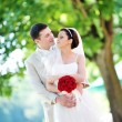 Groom and  bride — Stockfoto