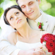 Groom and bride — Stock Photo #3707474