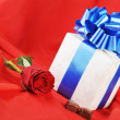 Stock Photo: Gift and chocolate