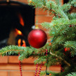 Christmas tree with toy — Foto de Stock