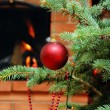 Christmas tree with toy — Foto Stock