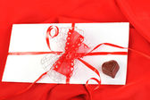 Choklad och brev — Stockfoto