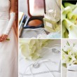 Collage of different wedding pictures — Stock Photo