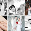Royalty-Free Stock Photo: Collage of wedding photos
