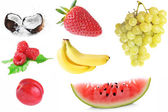 Collage of different fruits — Stock Photo