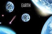 Uzayda dünya gezegeni — Stok fotoğraf