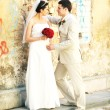 Groom and bride — Stock Photo #3916528