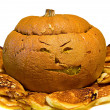 Stock Photo: Cooked halloween pumpkin