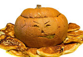 Cooked halloween pumpkin — Stock Photo