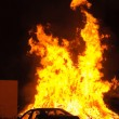 Stock Photo: Car and fire