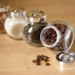 Jars of food ingredients — Stock Photo