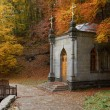 Stock Photo: Chapel in autumn forest