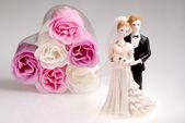 Düğün çift biblo — Stok fotoğraf
