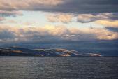 Marine landscape at sunset — Stock Photo