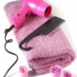 Toiletry in pink — Stock Photo