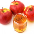 Apples and juice — Stock Photo